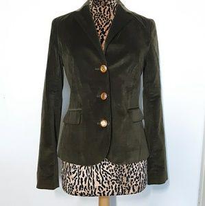 Tory Burch Olive Green Velvet Blazer Ladies 8
